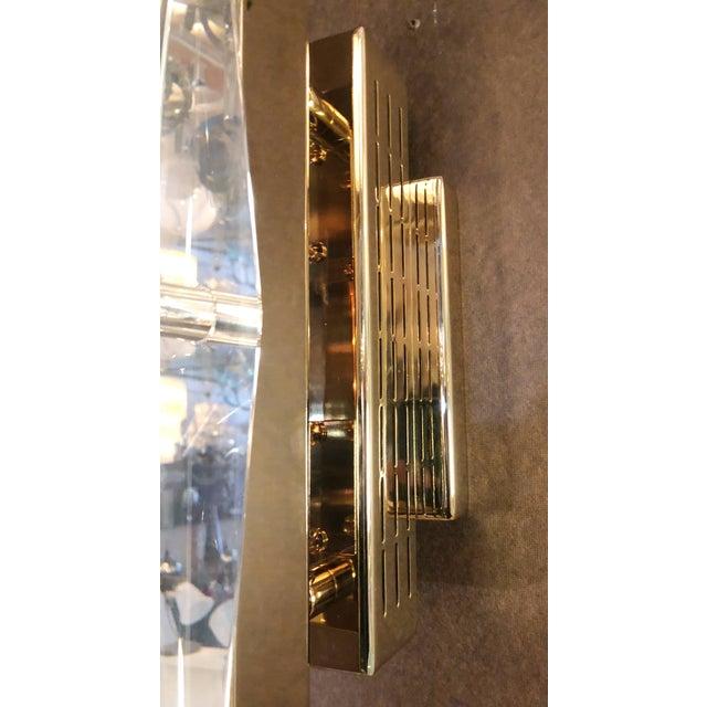 Chrome Fabio Ltd Crystal Gold Sconces / Flush Mounts (4 Available) For Sale - Image 7 of 9