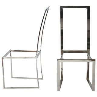 Milo Baughman Style Dining Chair Frames - A Pair For Sale
