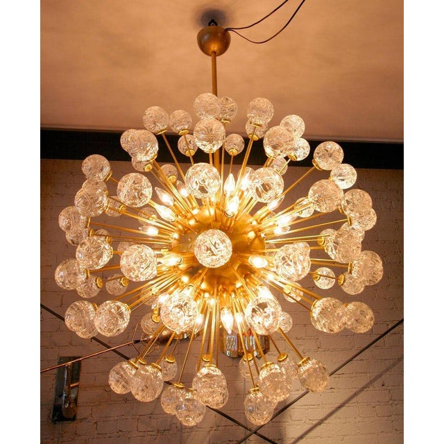 Gold Rose Murano Glass Sputnik Chandelier For Sale - Image 8 of 9