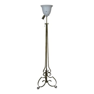 Wrought Iron Vintage French Floor Lamp For Sale