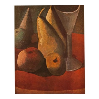 "1940s Pablo Picasso, ""Fruit and Wineglass"" Original Period Swiss Lithograph For Sale"