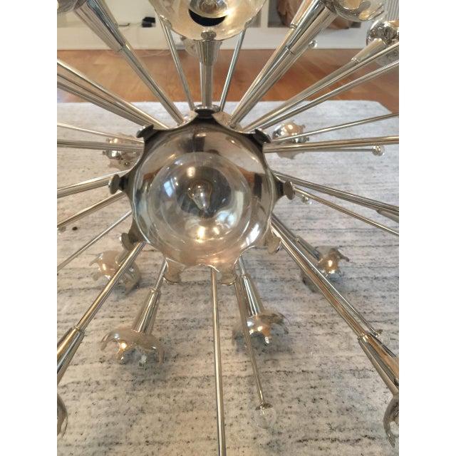 Contemporary Jonathan Adler Polished Nickel Sputnik Chandelier For Sale - Image 3 of 7