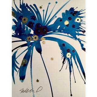 Original Ink Splash Botanical Watercolor
