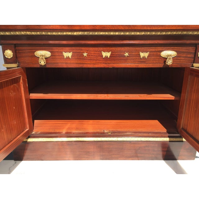 Mahogany Empire Cabinet For Sale - Image 4 of 10