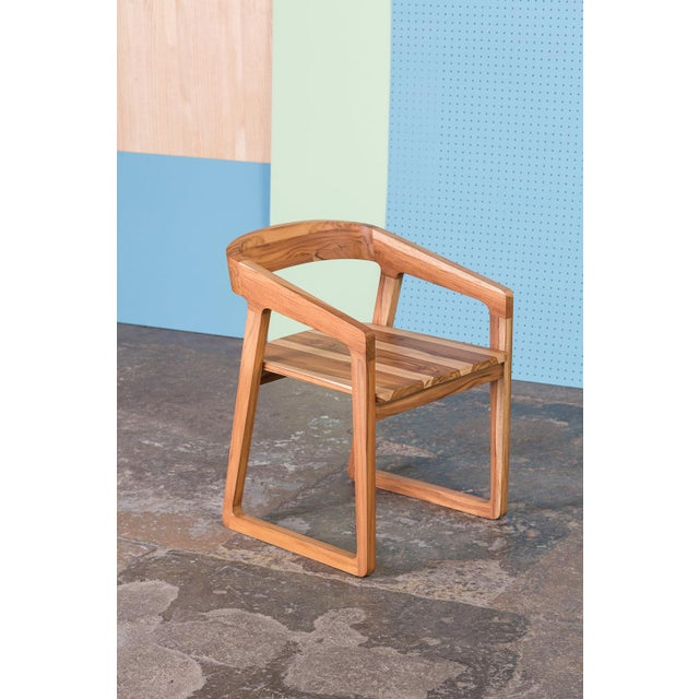 Ebb and Flow Ebb and Flow Celine Dining Chair in Natural Teak For Sale - Image 4 of 4