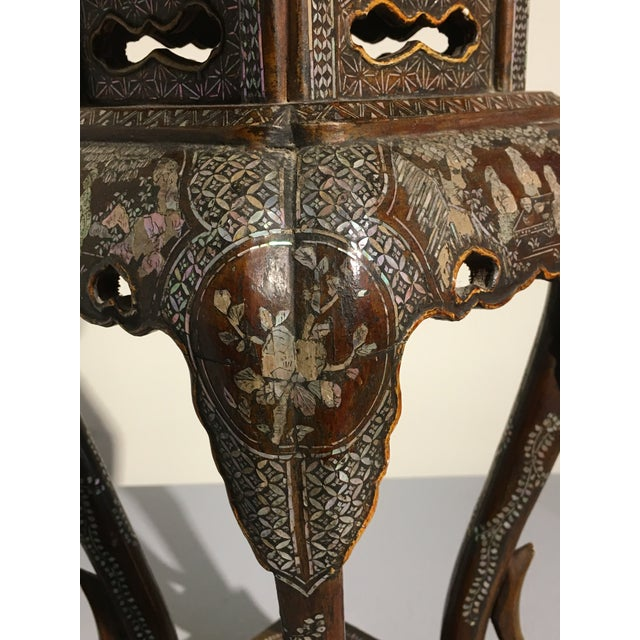 Japanese Ryukyu Islands Lacquer and Mother of Pearl Small Side Table - Image 10 of 11