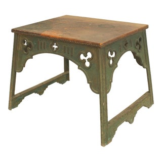 English Arts & Crafts Iron Coffee Table For Sale
