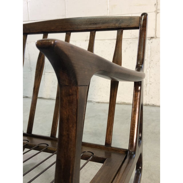 Wood Vintage Italian Beech Wood Rocking Chair For Sale - Image 7 of 13