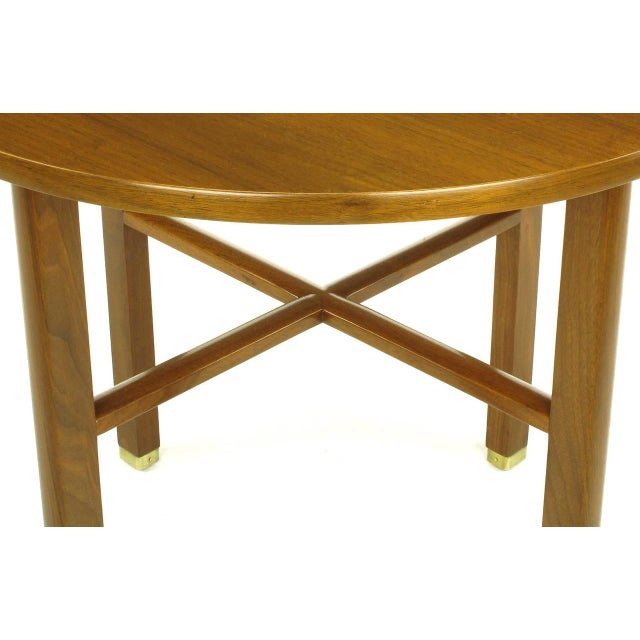 Dunbar Furniture Edward Wormley For Dunbar Walnut X Stretcher Side Table For Sale - Image 4 of 8