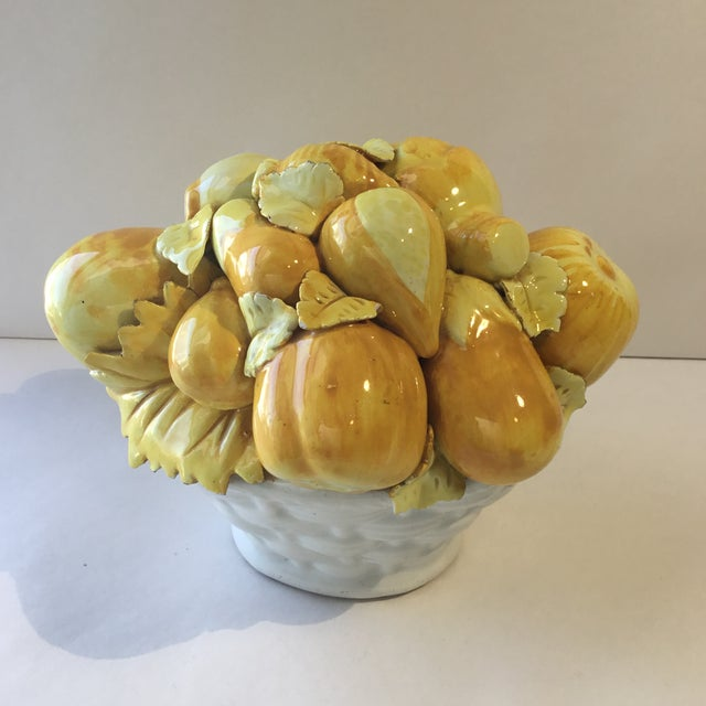 Italian Mid 20th Century Majolica Vegetable Basket For Sale - Image 3 of 13