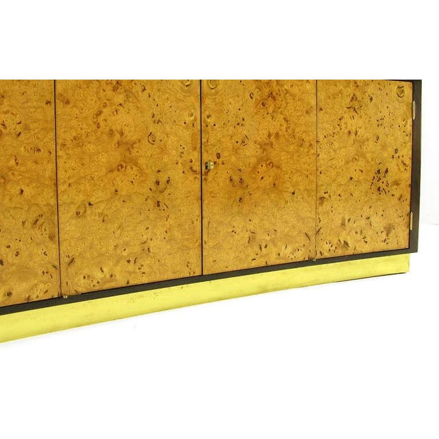 Gold Edward Wormley Walnut & Olive Ash Burl Tall Cabinet For Dunbar For Sale - Image 8 of 11