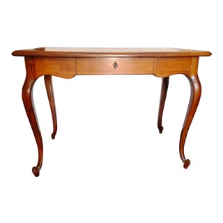 Vintage Louis XV Style Cherry Wood Italian Writing Desk For Sale