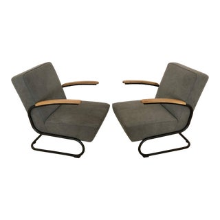 Mid Century Modern Kem Weber Style Springer Accent Chairs- A Pair For Sale