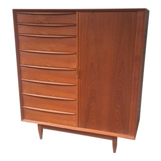 1960s Danish Modern Svend Madsen for Falster Møbelfabrik Gentleman's Chest Dresser For Sale