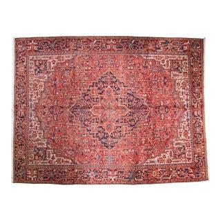 Vintage Heriz Carpet - 10' X 13' For Sale