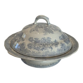 Antique Asiatic Pheasants Serving Bowl With Lid For Sale