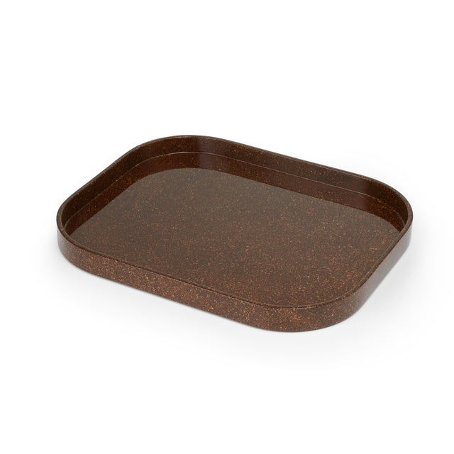Contemporary Miles Redd Collection Medium Stacking Tray in Porphyry For Sale - Image 3 of 3