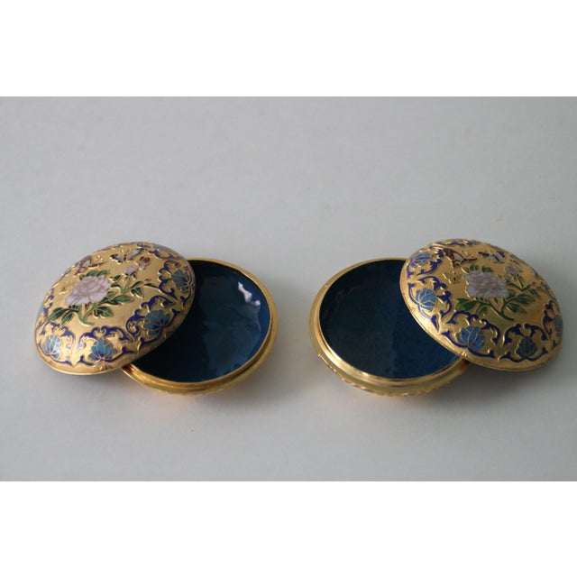 Gilt Enamel Boxes - A Pair - Image 3 of 6