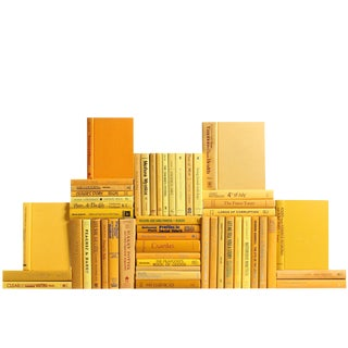 Modern Yellow Book Wall - Set of 50