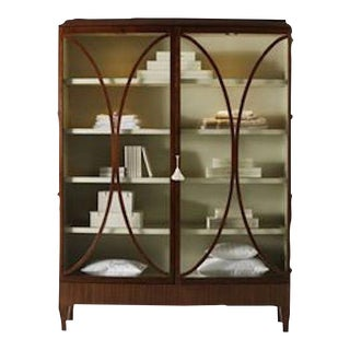 Traditional Henredon Open Oval China Cabinet For Sale