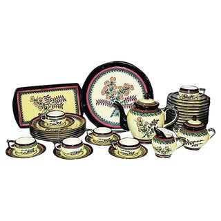 Henriot Quimper Tea Set - 35 Pieces