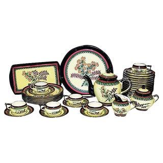 Henriot Quimper Tea Set - 35 Pieces For Sale