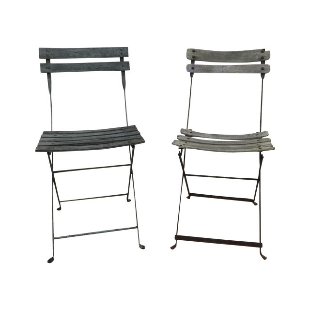 Painted French Garden Chairs - Pair