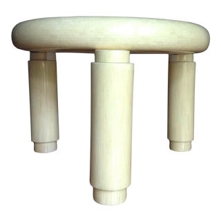 Karl Springer Style Corner Table in Tessellated Bone Enrique Garcel , Circa 1970s For Sale