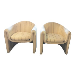 Vladimir Kagan for Preview Sculptural Club Chairs - a Pair For Sale