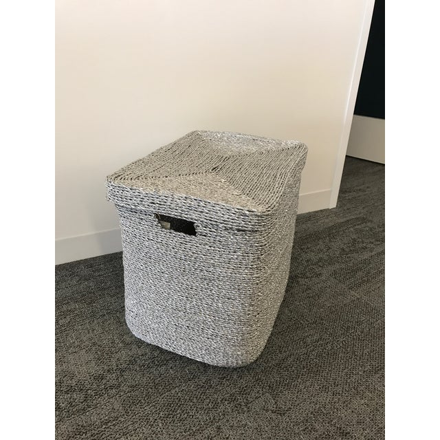 Silver Gray Woven Oversize Basket - Image 2 of 6