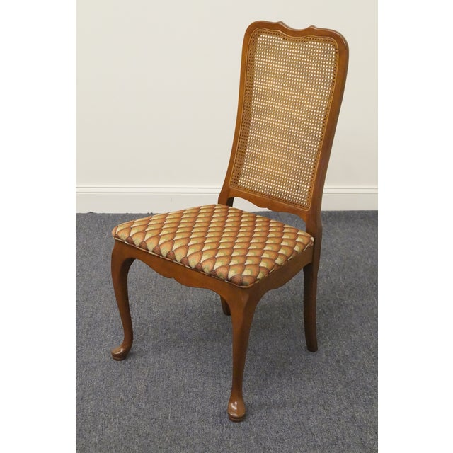 Late 20th Century Vintage Georgetown Galleries Solid Cherry Cane Back Side Chair For Sale - Image 4 of 10