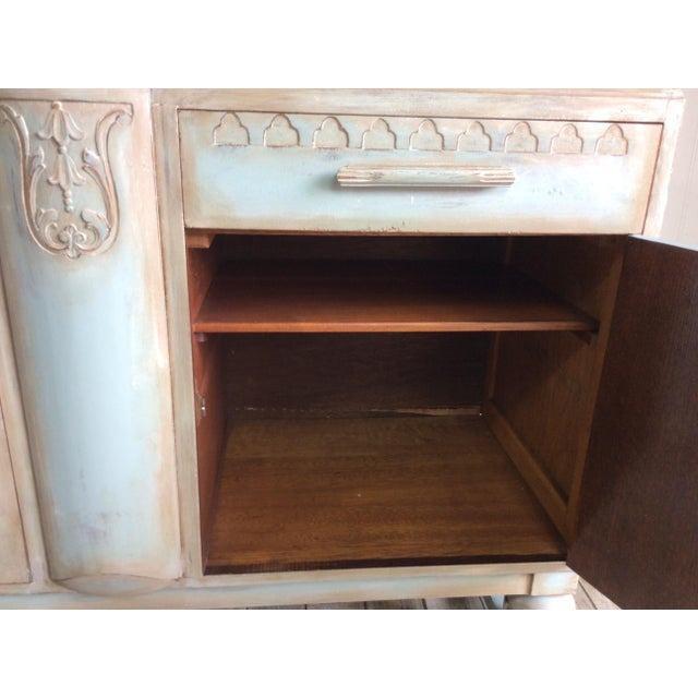 1930s French Cottage Painted Buffet For Sale - Image 10 of 13