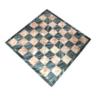 Marble Checkers Board For Sale