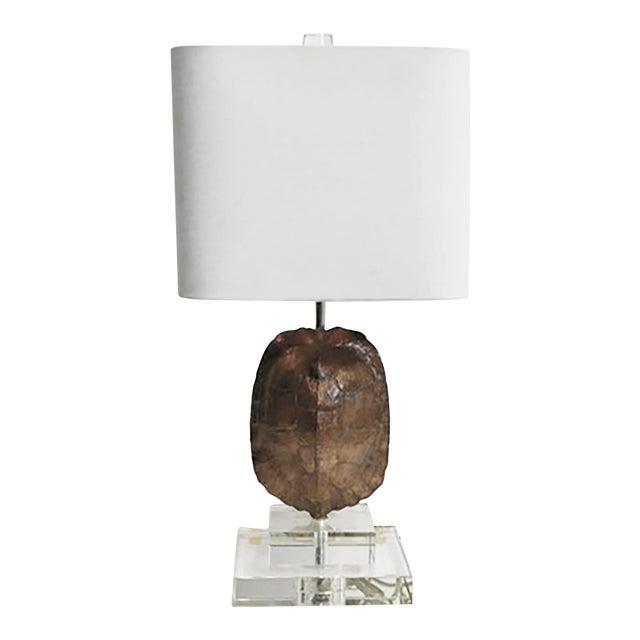 Gold Leaf Tortoise Lamp For Sale