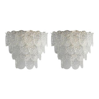 Mid 20th Century Vintage of Bubble Sconces by Mazzega - a Pair For Sale