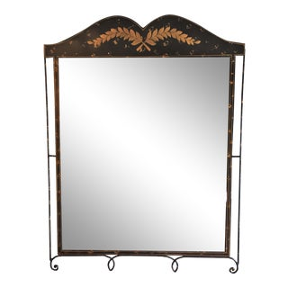 Large English Tole Mirror, 1890s