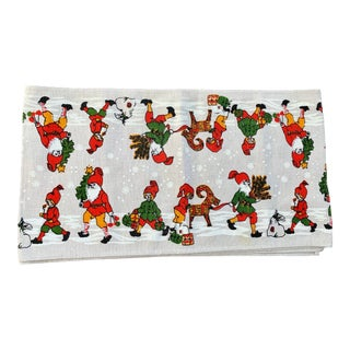 Vintage Scandinavian Christmas Knome Table Runner For Sale
