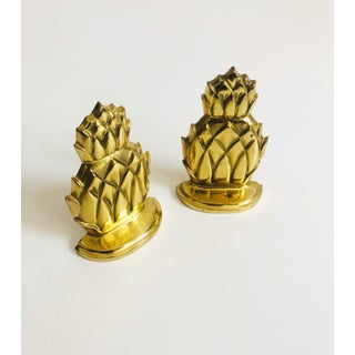 Vintage Brass Pineapple Bookends Preview
