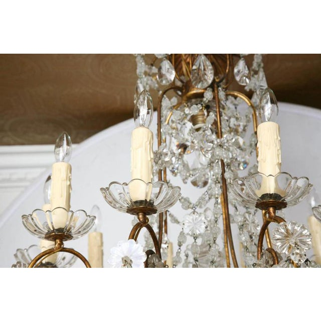 Unusual Ten-Light Gilded Iron Italian Chandelier, Early 20th Century For Sale - Image 4 of 10