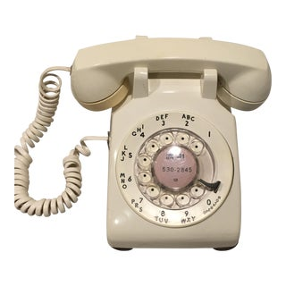 Cream Colored Rotary Phone