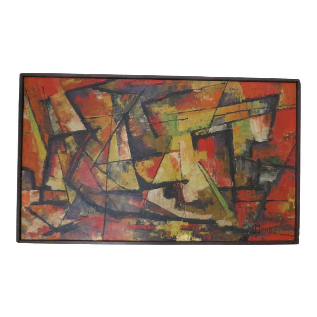 20th Century Abstract Painting by Manger For Sale