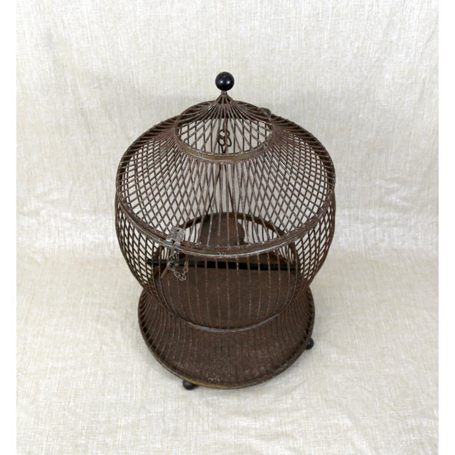Asian Vintage Pagoda Bird Cage For Sale - Image 3 of 11