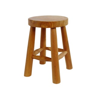 Simple Teak Stool For Sale