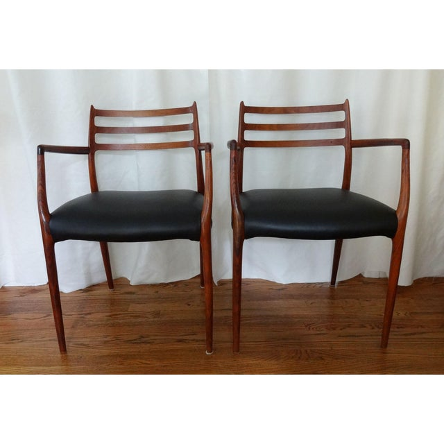Mid 20th Century Mid Century Danish Modern Armchairs by J. L. Moller - a Pair For Sale - Image 10 of 10