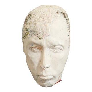 Hand Sculpted Plaster Head For Sale