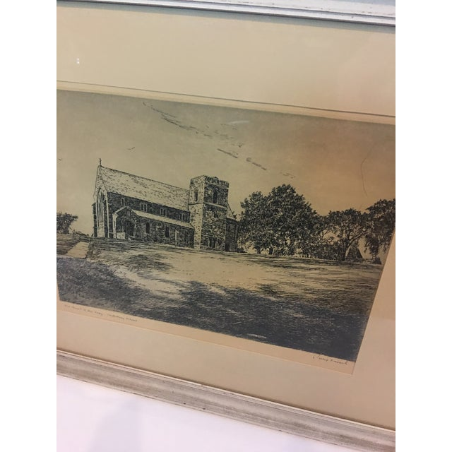 1950s Vintage Canterbury School Chapel Etching by Philip Kappel For Sale - Image 5 of 13