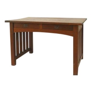 American Mission oak library writing table For Sale