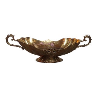 Vintage Brass Urn Centerpiece For Sale