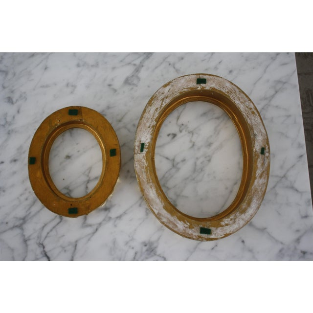 Pair of Gilt Oval Frames For Sale - Image 11 of 13