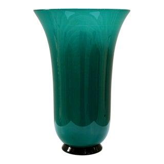 Signed Venini Murano Tall Art Glass Vase For Sale